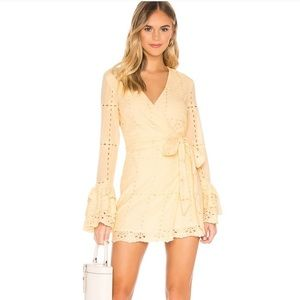 Tularosa Luna Dress in Butter Yellow